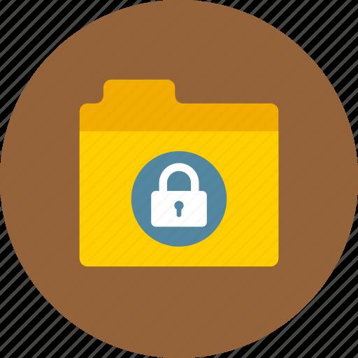 files, folder, lock, private, storage icon