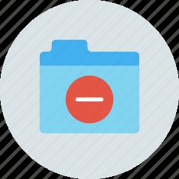 delete, files, folder, remove, storage icon