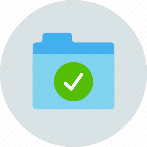 checked, files, folder icon