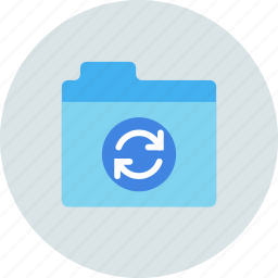 files, folder, storage, sync, syncronization icon