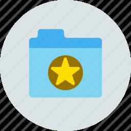 files, folder, star icon