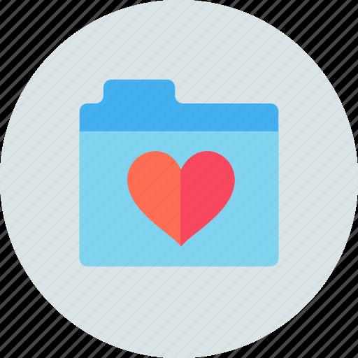 favorite, folder, love icon