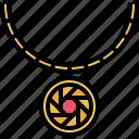 chain, jeweler, jewelry, medallion, necklace, pendant, shop icon
