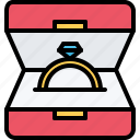 box, diamond, jeweler, jewelry, ring, shine, shop icon