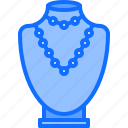 bust, dummy, jeweler, jewelry, necklace, pendant, shop icon
