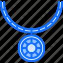 chain, gem, jeweler, jewelry, necklace, pendant, shop icon