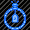 badge, diamond, discount, jeweler, jewelry, ring, shine icon