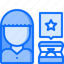 box, diamond, jewelry, review, ring, shop, woman icon