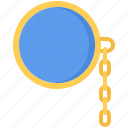 accessory, chain, glasses, jeweler, jewelry, lens, monocle icon