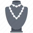 bust, dummy, jeweler, jewelry, necklace, pendant, shop icon