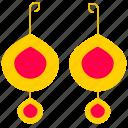earrings, gold earrings, jewelry, shackle, valuable icon