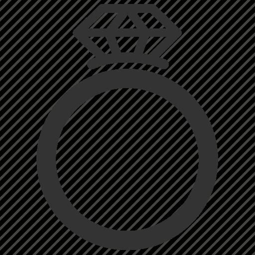 Diamond Ring Icon Ring Wedding Icon