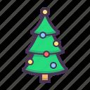 birthday, celebration, christmas, forest, plant, present, tree icon