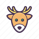 beach, holiday, reindeer, tourism, tree icon