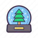 crystal, forecast, snowfall, snowflake, snowglobe icon