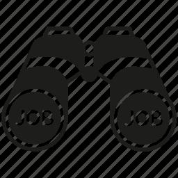 binocular, job, job search, spyglass, vision icon