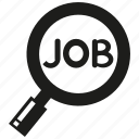 job, job search, magnifier glass, search icon