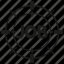 focus, job, target icon