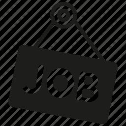 job, signage icon