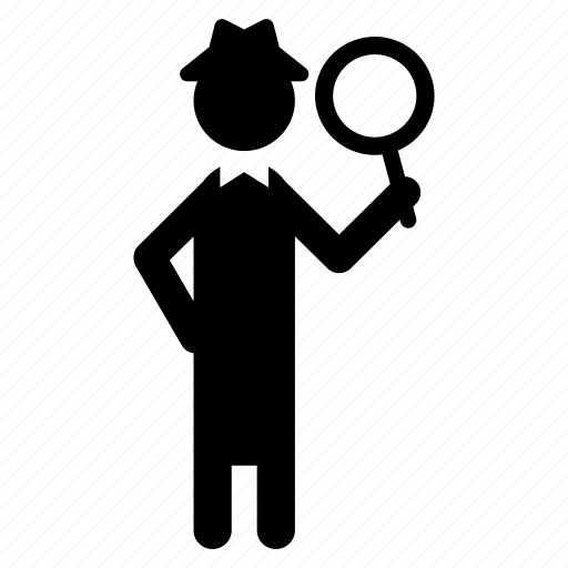 action, activity, detective, people, profession, search, work icon