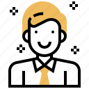avatar, businessman, employee, human, manager icon