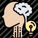 brainstorming, creative, experience, idea, innovation icon