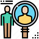 human, recruit, resource, search, seeker icon