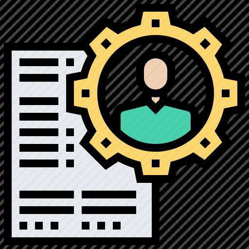 application, document, profile, recruitment, resume icon
