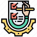 checklist, data, information, paper, test icon