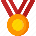 achievement, badge, gold, medal, reward, winner icon