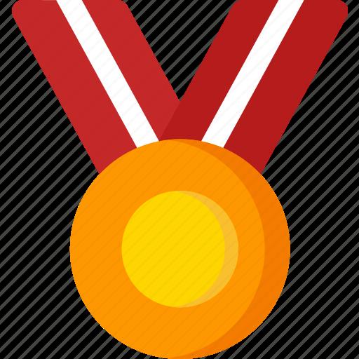 achievement, badge, gold, medal, reward, winner icon
