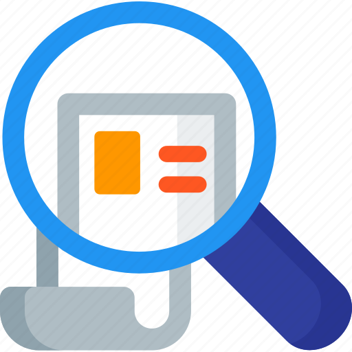 cv, find, magnifier, magnifying, paper, resume, search icon