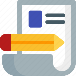 cv, document, make, page, pencil, profile, resume icon