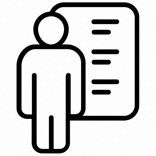 biodata, curriculum vitae, cv, job application, job profile, resume icon
