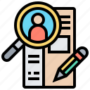 form, resume, applicant, registration, job icon