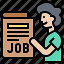 recruitment, announce, search, job, unemployment icon