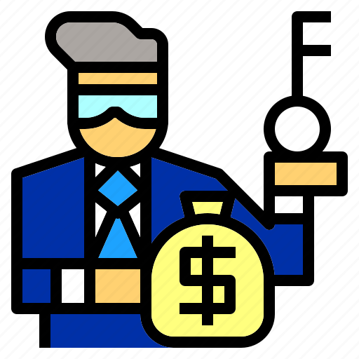 banker, banking, currency, investor, jobs, money, occupation icon