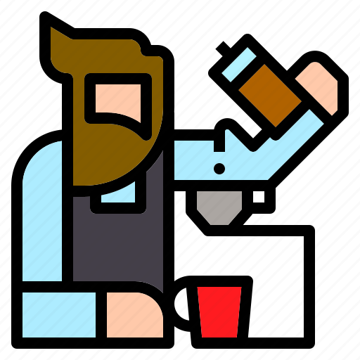 barista, coffee, drinks, jobs, occupation, shop icon