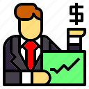 avatar, business, businessman, job, jobs, occupation, trader icon