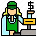 avatar, cashier, job, jobs, occupation, supermarket, teller icon