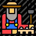 cultivator, farm, farmer, farming, garden, gardening, job icon