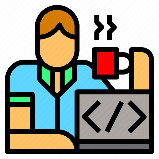 avatar, computing, geek, nerd, profile, programmer, worker icon