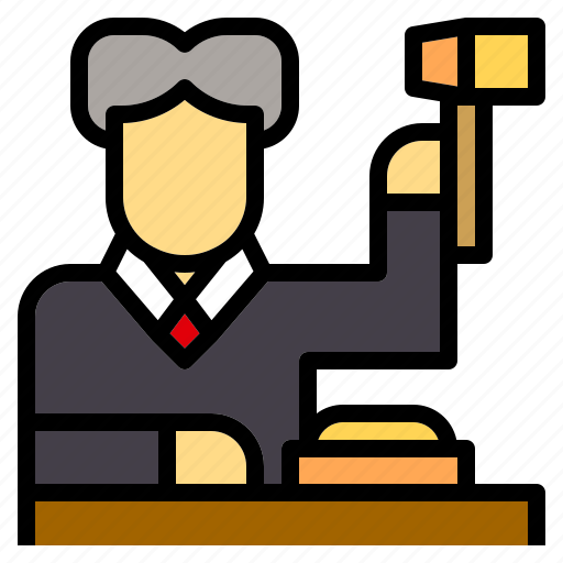 avatar, job, judge, justice, law, occupation icon