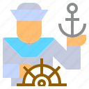 anchor, boat, job, naval, navy, sailing, sailor icon