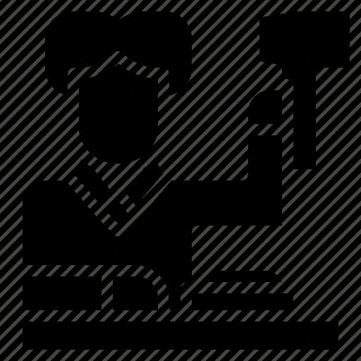 avatar, job, judge, justice, law, occupation icon