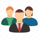 customers, people, users, company, conference, social network, team