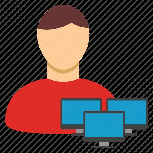 admin, administrator, communication, computer, hacker, moderator, network icon