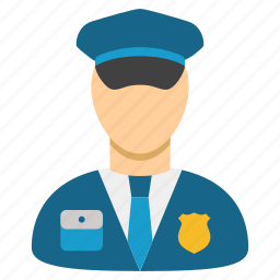 constable, cop, guard, military, police officer, policeman, security icon