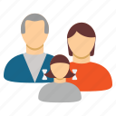 child, group, human family, man, people, users, woman icon