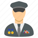 general, army, military, officer, soldier, policeman, power icon